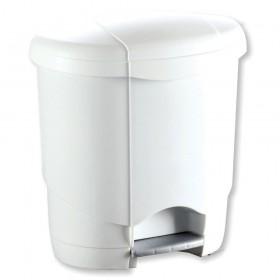 Poubelle à pédale 4L plastique blanc Lolly